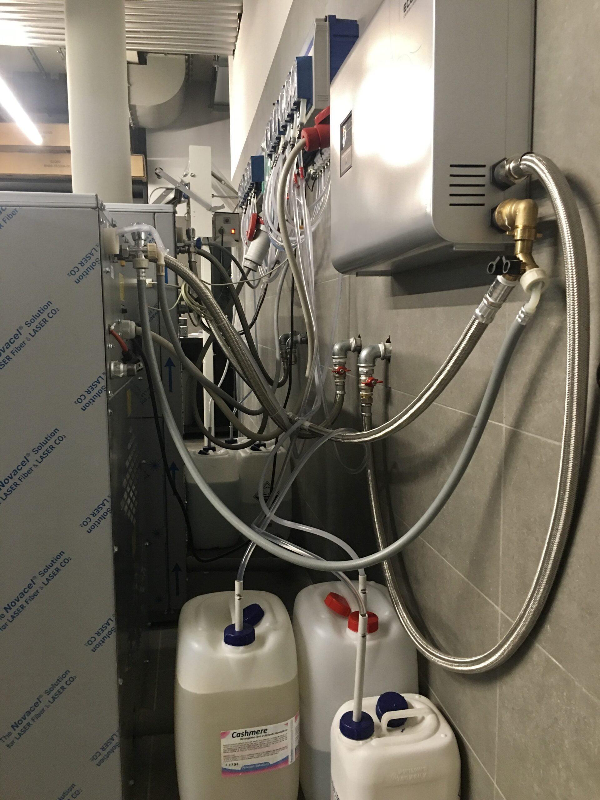 Cablaggio computerizzato e assistito,liquidi per lavatrici ad acqua.